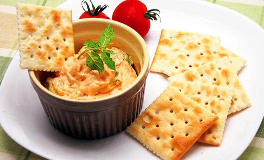 キムチとクリームチーズのカナッペ
