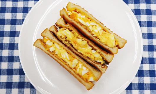 ぬかたまサンド(卵のぬか漬使用)