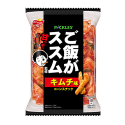 ご飯がススムキムチ味コーンスナック