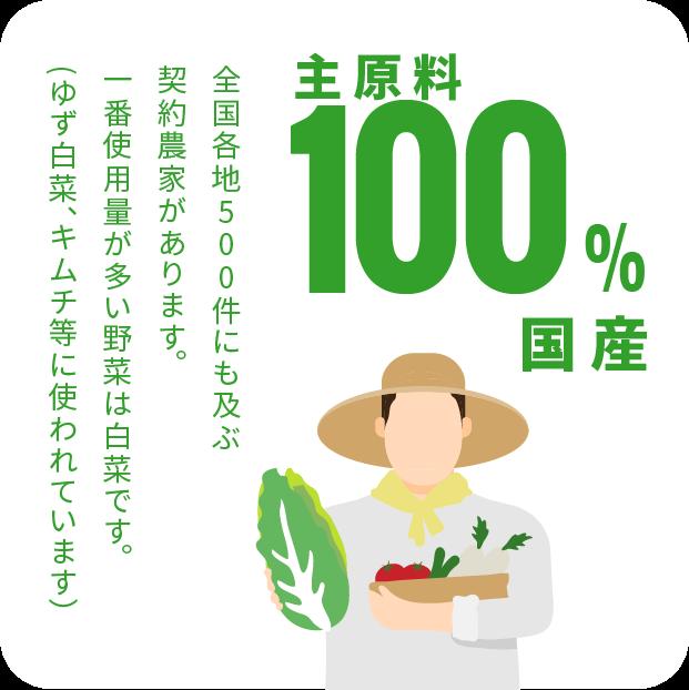 主原料100%国産