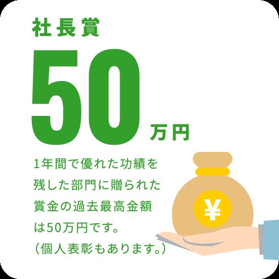 社長賞50万円